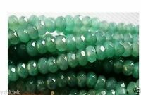"""5x8mm Natural Faceted Emerald Abacus Loose Beads Gemstone 15"""""""