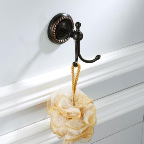 Copper Hook Hair Dryer Stand Holder Hair Blower Wall Mount Rack Organizer