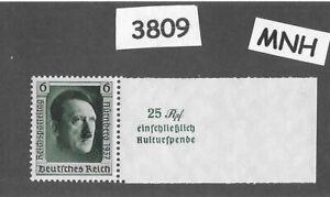 #3809    MNH 1937 Hitler at Nuremberg stamp PF06 Sc B106 Third Reich Germany