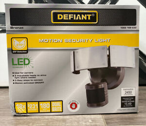 Defiant 270 Degree Bronze Motion Outdoor Security Integrated LED Flood Light
