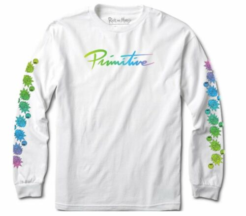 Primitive Exclusive Rick and Morty Nuevo Gradient LS Tee White