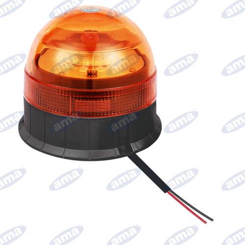 LAMPEGGIANTE GIROFARO A LED CON BASE NORMALE CALAMITA 12//24V  MULTIFUNZIONE