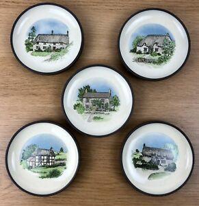 Vintage-Hornsea-Pottery-Pin-Dish-Cottage-Trinket-Sweet-Tray-x-5-Dishes