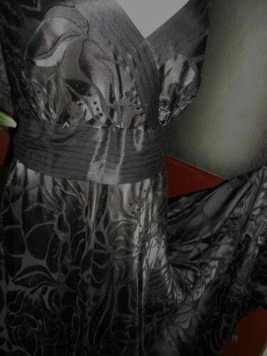 £ Black Silk rosie 95 Dress Stordimento Devorelbd Monsone Eu44 Rrp 16 Bnwt FSZqcwx