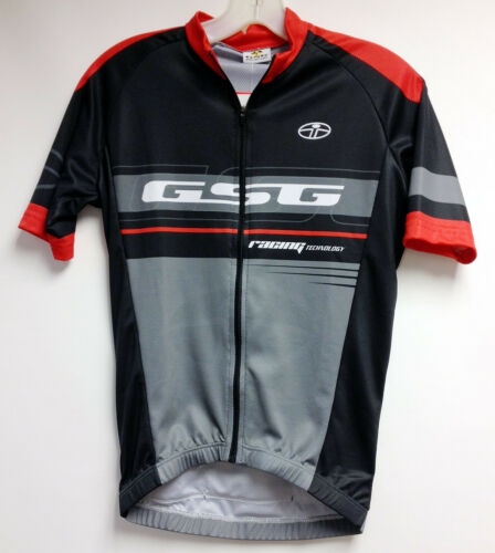 Made in Italy by GSG Black //Red Poly CYCLING SHORT SLEEVE JERSEY