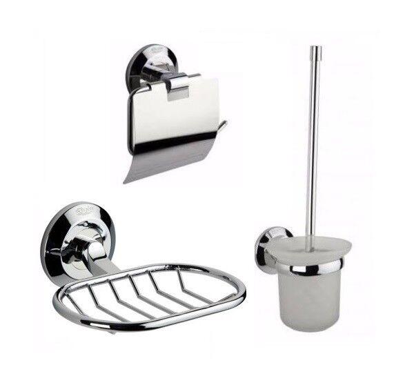 Set Seifenschale Toilettenbürste Toilettenpapierhalter Seifengitter Bürste Bad