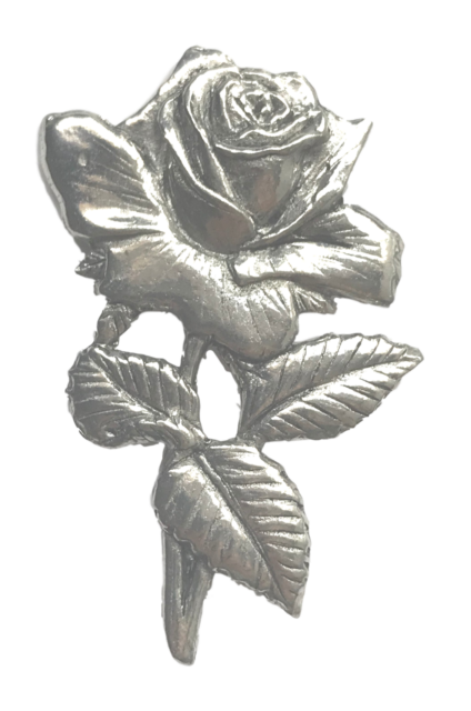 Political Party Labour Rose Hand Made in the UK Pewter Lapel Pin Badge