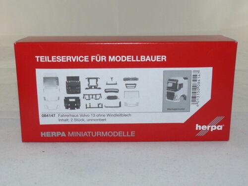 2 pièce NEUF Herpa 084147 Volvo FH GL cabines sans windleitblech contenu neuf dans sa boîte