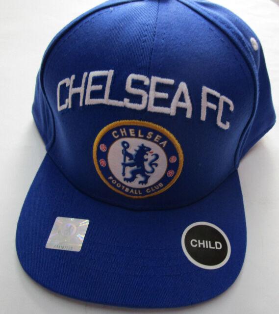 4246e6bb175 Kids Chelsea FC Fun Hat Bllue White Adjustable Football Soccer ...