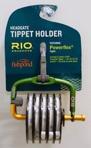 Fishpond Headgate Tippet Holder with Rio Powerflex Tippet Spools 6X 5X 4X 3X 2X