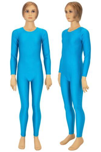 Kinder Volti-Anzug Rundhals lange Ärmel+Beine Ganzanzug Overall stretch shiny