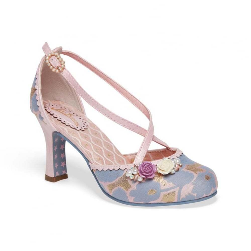Joe Brauns Couture Evangeline Lilac/Pink/Gold Court Schuhes NEW SS18 Größe 4