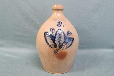 Antique Decorated 2 Gal. Stoneware Jug John Burger Rochester, NY.