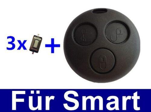 3x MICRO TASTER 1x Ersatz Auto Schlüssel Gehäuse für Smart ForTwo-MC01 450