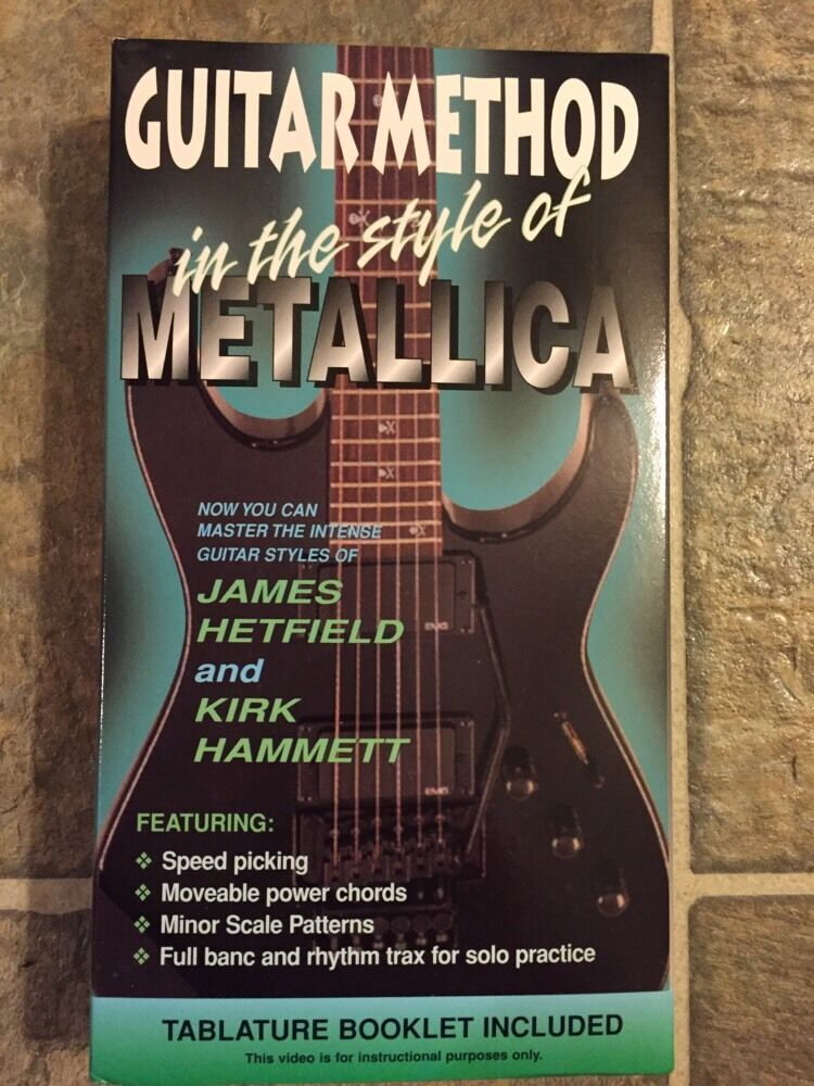 Vhs Guitar Method In The Style Of Metallica Ebay