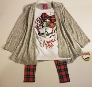 MONSTER-HIGH-Sweater-Tunic-and-Leggings-Set-XS-4-5-NWT-FAST-SHIPPING