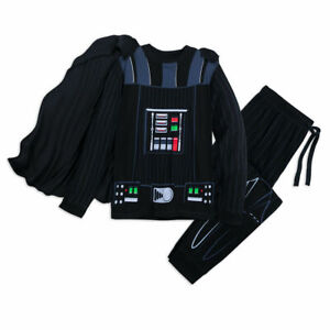 Disney-Store-Darth-Vader-Pajama-Set-Men-039-s-Star-Wars-Costume-Cape-PJ-039-s-Sleepwear