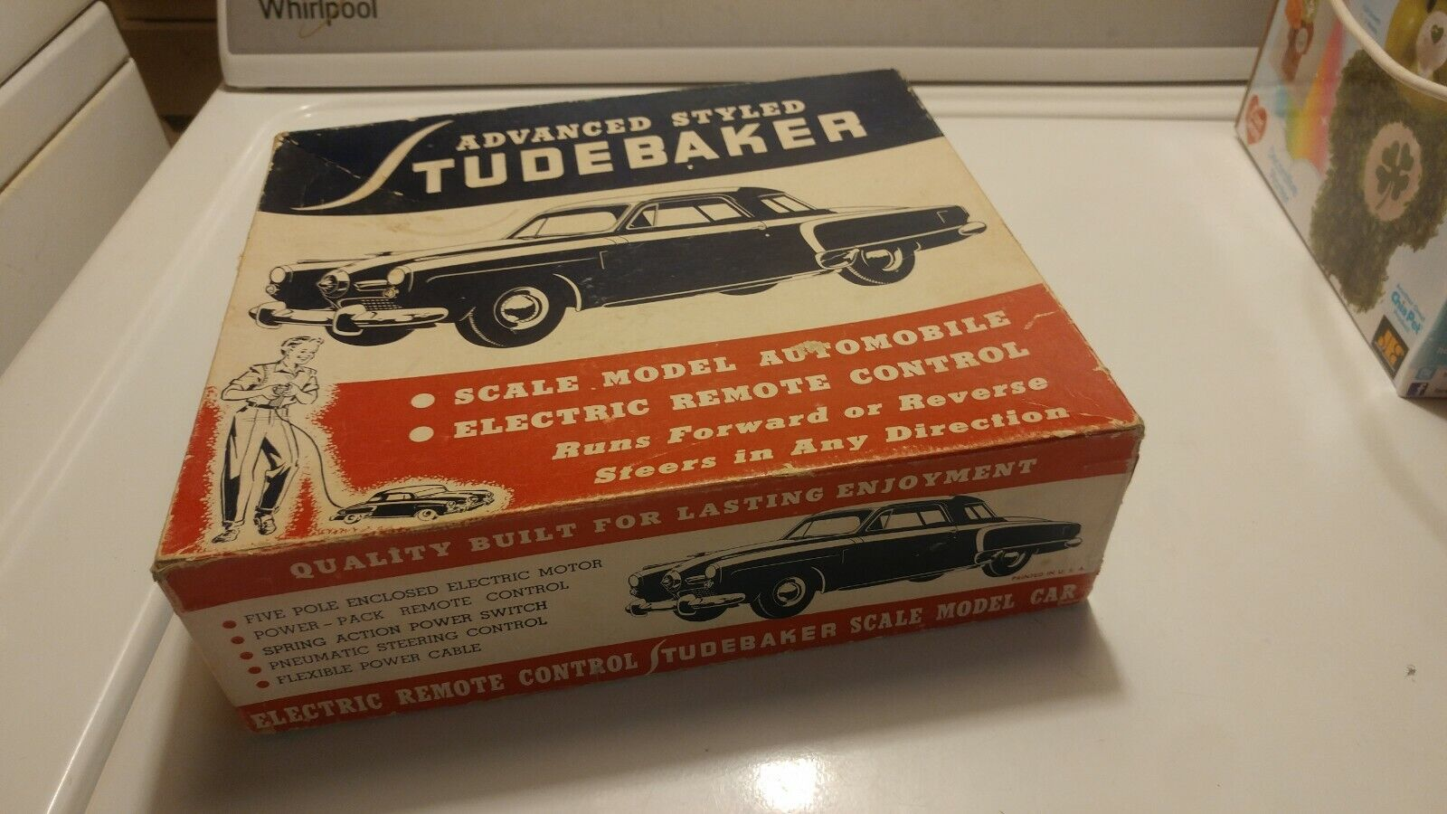 Old Vintage Aluminum Model Toys Bullet Nose Studebaker Remote Control BOX ONLY
