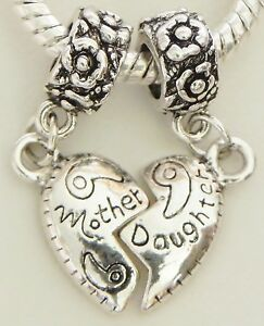 5-2pc-Sets-Mother-Daughter-Puzzle-Heart-Dangles-European-8-30-amp-5-mm-Hole-S172-5
