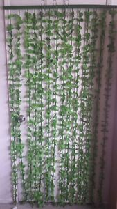 Bamboo green string leaves room ider curtains hanging door wall panel drapes ebay