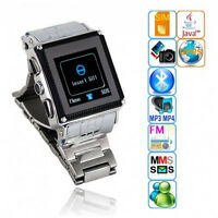 Silver Waterproof 1.5 Touch Watch Cell Phone With Camera Java Unlocked W818