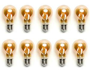 10x 6w E27 Edison LED Vintage Filament Glühbirne Leuchtmittel Retro Nostalgie