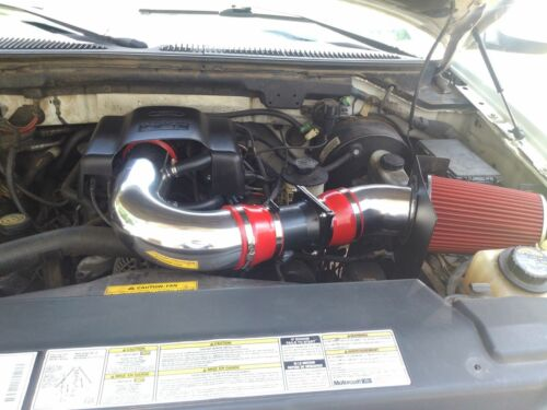 BCP RED 2001 2002 2003 F150//Expedition 4.6//5.4L V8 Heat Shield Cold Air Intake