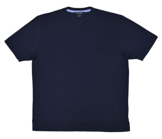 6e2e8bb2a62 Brooks Brothers Navy Blue Supima Cotton Crewneck T-Shirt Sz Large L 3239-4