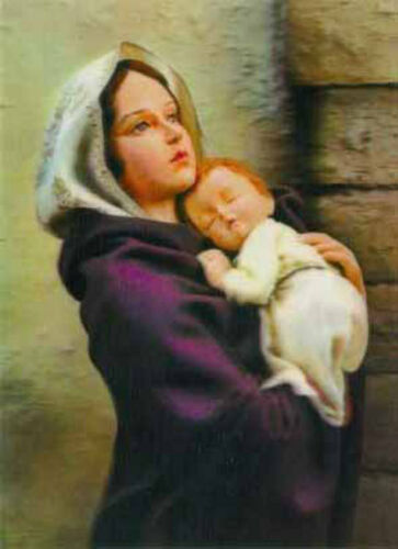 3D Lenticular Postcard Greeting Card Madonna and Child