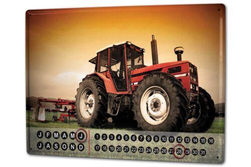 Dauer Wand Kalender Nostalgie  Traktor Metall Magnet