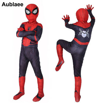 Halloween Boys Black Suit Spider-Man kids superhero Party cosplay costume