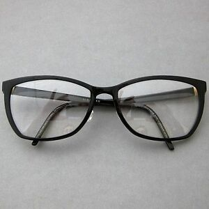 image is loading lindberg 1158 black acetanium titanium eyeglasses spectacle frames