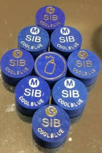 14MM best for cue lathe installation. 3 MED NEW SIB COOL BLUE Layered Cue Tips