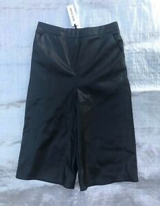 BNWT-GIRL-039-S-034-RIVER-ISLAND-034-BLACK-FAUX-LEATHER-CULOTTES-10-YEARS