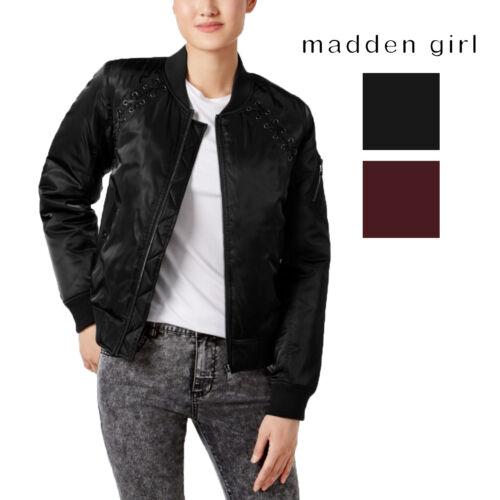 Madden Girl Juniors/' Lace-Up Bomber Jacket