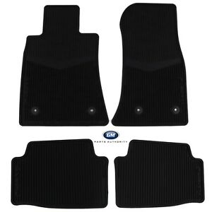 2015-2018 Cadillac ATS All Weather Floor Mats 22759927 Black Front