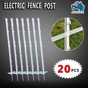 STRIP-GRAZE-POLY-TREAD-IN-POSTS-X-20-MULTI-WIRE-TAPE-ELECTRIC-FENCE-POST-FENCING