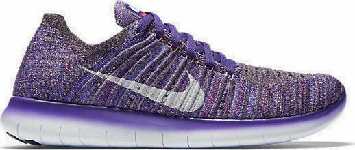 new arrival bbea3 b0574 Nike RN Flyknit Womens Grand Purple/white Running SNEAKERS 9 M US Medium