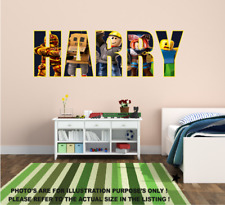 ROBLOX RED SQUARE  VINYL WALL STICKER VARIOUS SIZES