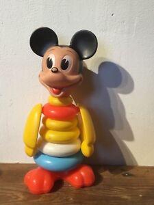 Disney-mickey-mouse-vintage-stack-toy-Estrela-brazil