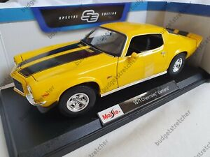 MAISTO-1-18-Diecast-Model-Car-Chevrolet-Camaro-Yellow-Transformers-Bumblebee