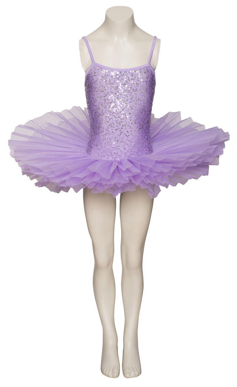 Lilla Luccicante Tutu con Argento Paillettes da Ballo e Balletto Costume Tutu