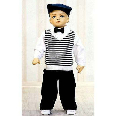 Baby Boy Suit Navy Check Outfit Waistcoat Smart Christening Baptism 3 6 9 12 24M