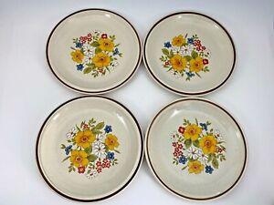 Set-of-4-Casual-Elegance-Hearthside-Stoneware-Bordeaux-Japan-8-034-Plates-672-VTG