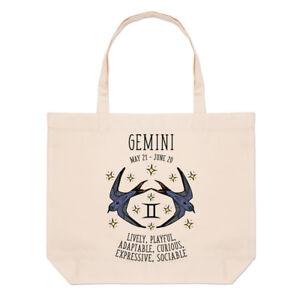 Zodiac Plage Sac Horoscope Astral Gemini Grand Fourre Anniversaire tout Signe vEqWw78