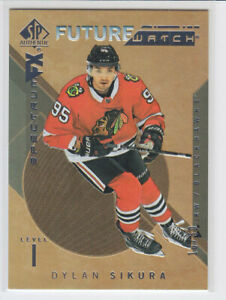 2018-19-UD-SP-AUTHENTIC-DYLAN-SIKURA-RC-50-GOLD-BOUNTY-ROOKIE-FW-SPECTRUM-FX