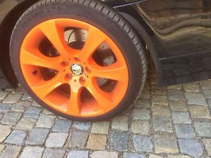 fuer-JAGUAR-tuning-felgen-2x-Radlauf-Kotfluegel-Leisten-Verbreiterung-CARBON-25cm