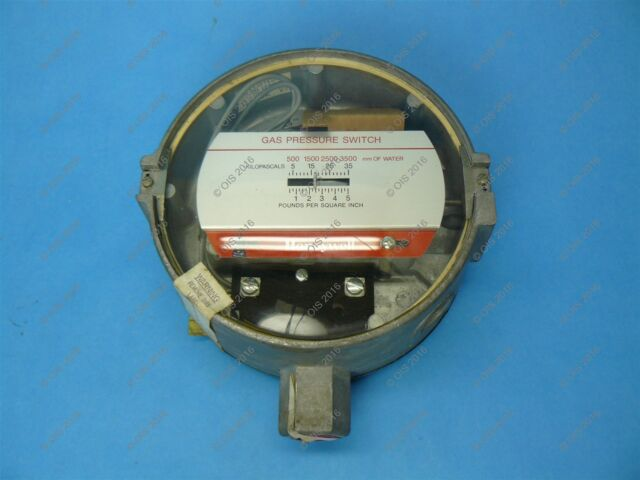 Honeywell C437G1028 Gas Pressure Switch 1/2 to 5 PSI SPST On Rise New