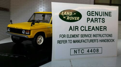 Land Rover Range Classic Defender 90 110 Air Cleaner Decal Label Parts NTC4408