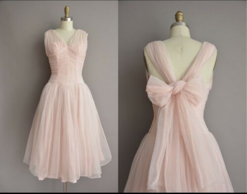 Vintage 50's Pink Princess Cupcake Wedding Dress